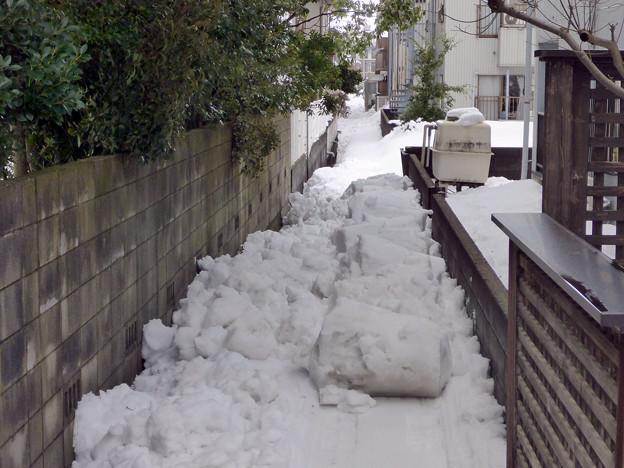 雪捨て場は満杯