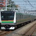 Photos: 東海道線E233系3000番台 E-02編成他15両編成