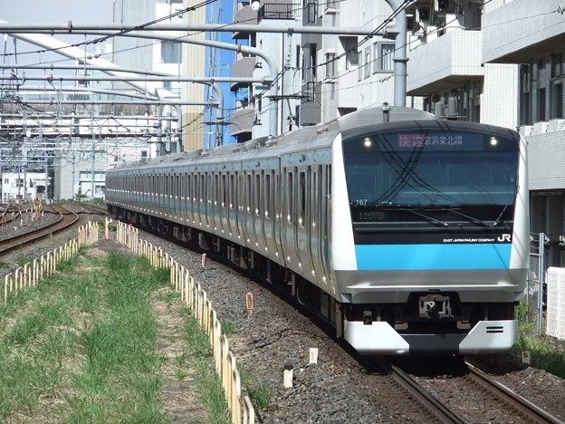京浜東北・根岸線E233系1000番台 サイ167編成