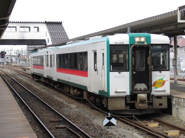 石巻線キハ110系 キハ111-216+キハ112-216