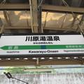 川原湯温泉駅 駅名標【上り】