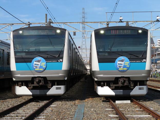 E233系1000番台サイ129・サイ134編成 2並び