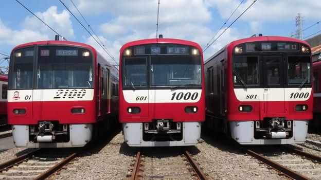 京急2101F・1601F・1801F 3並び