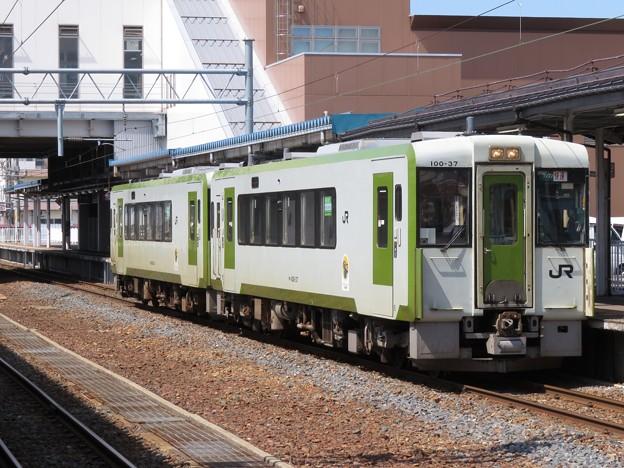 Photos: 北上線キハ100系0番台 キハ100-37+キハ100-34