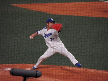 祖父江大輔投手。