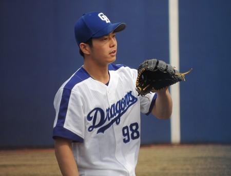 3/27(日) ナゴヤ球場でウエスタンリーグのオリックス戦 大藏・浜田智・三ツ間投手が投げました。