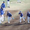 写真: 野手陣。