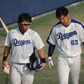 Photos: 亀ちゃんと直倫選手。