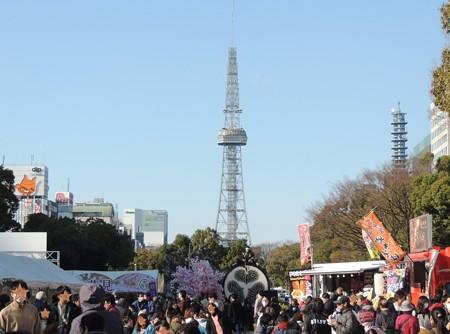 テレビ塔が見えます。