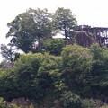 写真: 巨岩に築かれた苗木城
