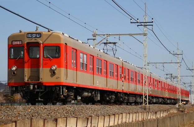 臨5895レ 8111F 団体臨時列車(2015/2/28 野州山辺-韮川間にて)