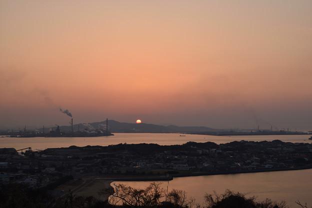 老ノ山公園からの夕日