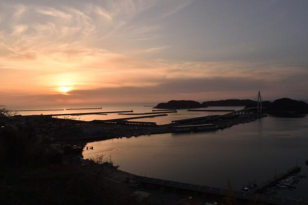 浜田港の夕日 1