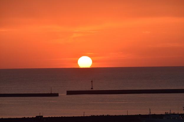 浜田港の夕日 2