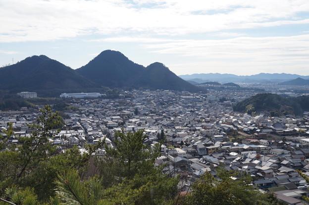 小倉山から美濃の街並み