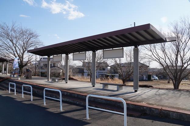 旧筑波駅のホーム