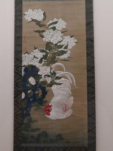 嵯峨嵐山文華館「紫陽花白鶏図」