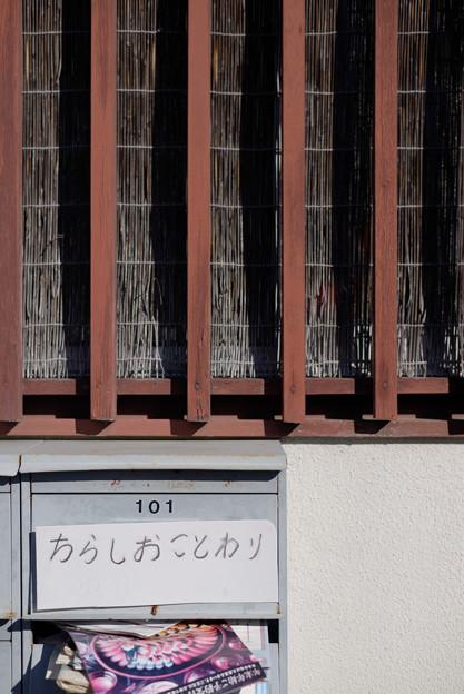 Photos: ちらしおことわり