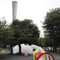 公園と給水塔