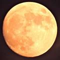 写真: 晩秋の月・・2 小望月   10:26    (17:08)