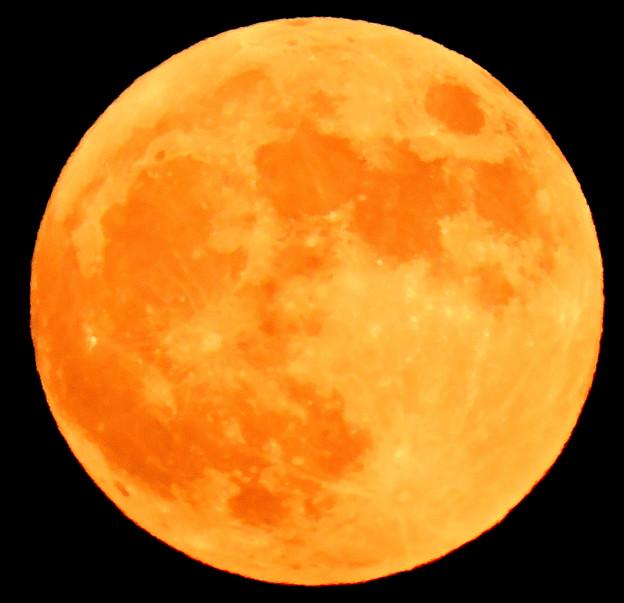 晩秋の月・・3 十五夜(満月)  10:27 (17:40)