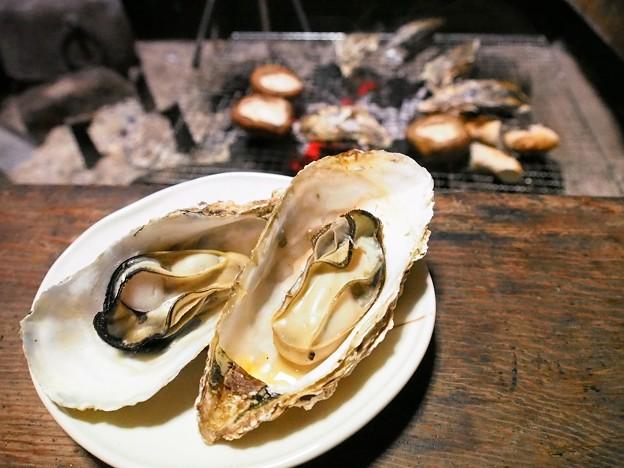 焼き椎茸&焼き牡蠣