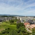 写真: 柳田布尾山古墳から氷見市一望