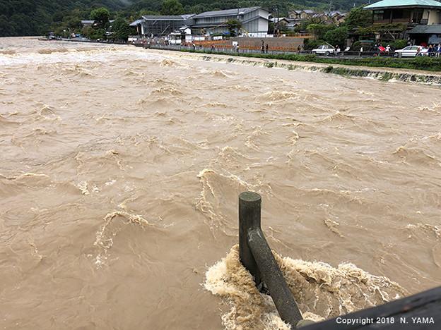 2018年9月8日、桂川