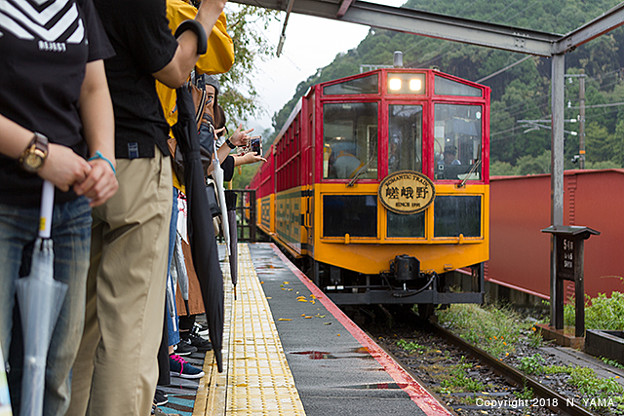 Photos: 2018年9月8日、トロッコ亀山駅