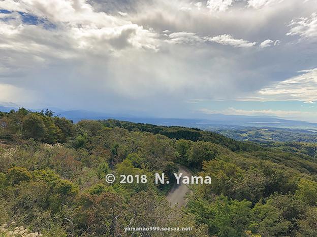 2018年10月6日、宝達山山頂より一望