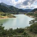 写真: 2018年10月13日、手取川ダム湖風景
