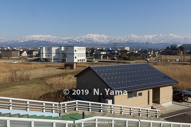 2019年2月24日、立山連峰風景