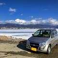 写真: 諏訪湖でミニカ