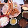 写真: エビヒレ定食
