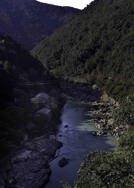 写真: 亀山公園からの保津川