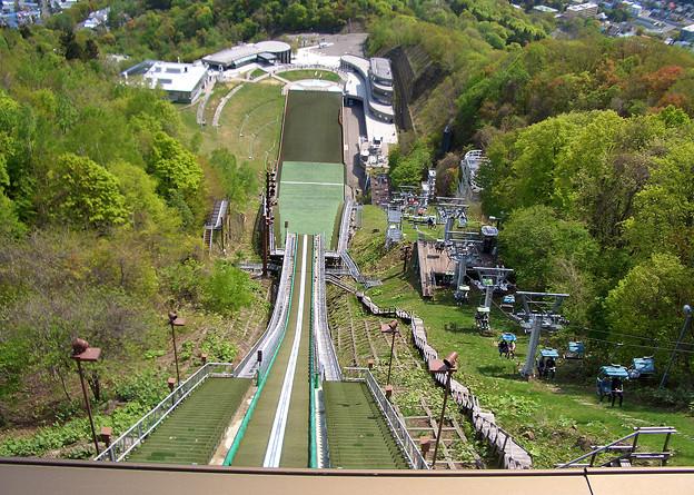 写真: 大倉山シャンツェの上から