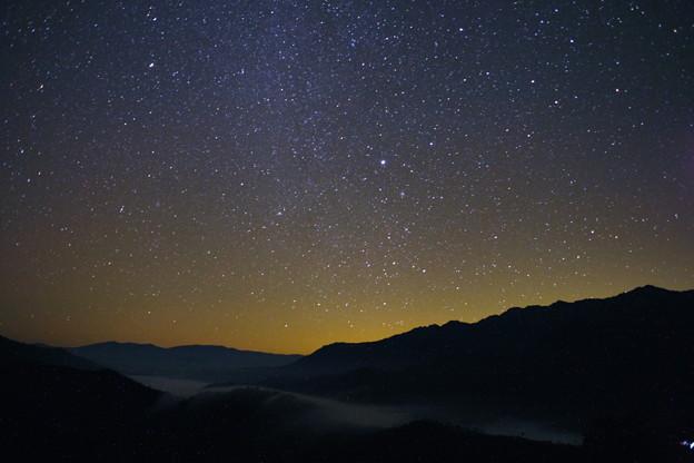 枝折峠星と滝雲