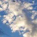 龍の子山からは飛行機が常に