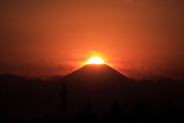 クリスマス富士落日