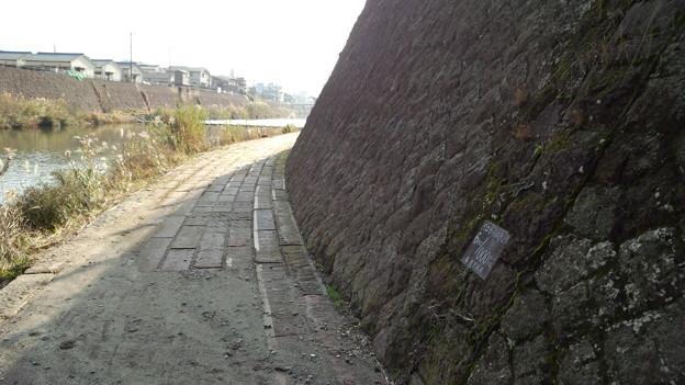 幸加木川合流の少し下流の右岸 甲突川 鹿児島市