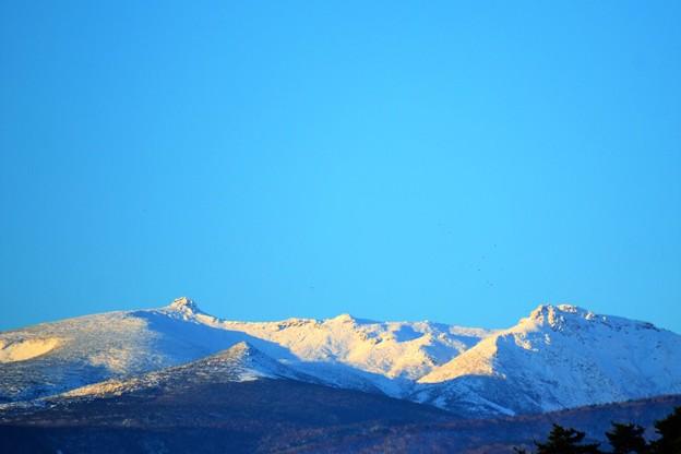 安達太良連峰も雪