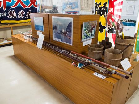 戸田造船郷土資料博物館のカツオ釣り竿