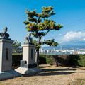 斉藤寿夫翁と船山啓治郎翁の像