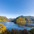 梅林湖(松原ダム湖)紅葉