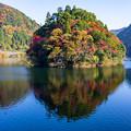 梅林湖(松原ダム湖)紅葉 2