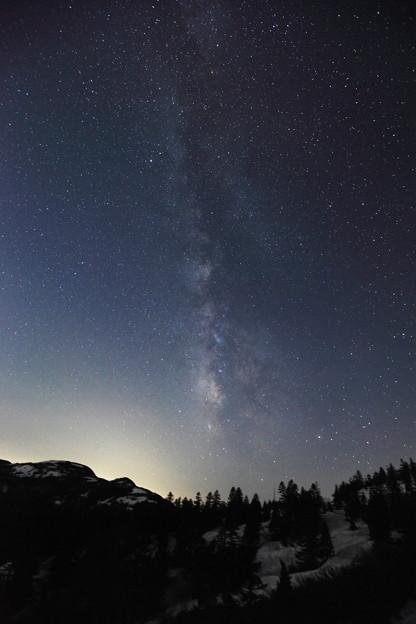 銀河 聳える