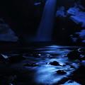 月光下の秋保大滝