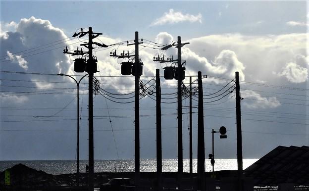 北の電信柱