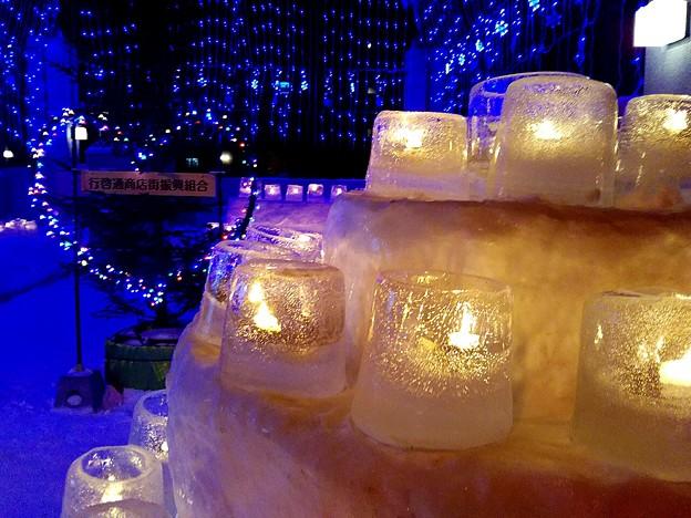 雪灯りとバレンタインイルミ~♪