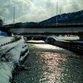写真: 支流の流れと春の陽射し~♪